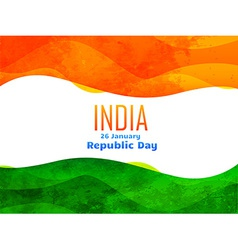 Indian republic day design made with texture vector