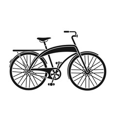 road bike for walking with a semicircular frame vector image vector image