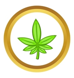 Cannabis leaf icon vector