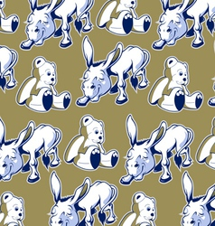 cartoon donkey bear background funny style vector image