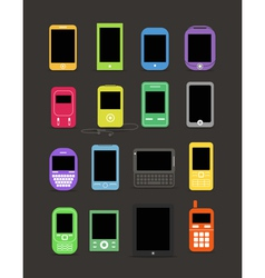 cellphone collection vector image vector image