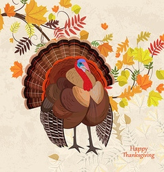 invitation card with beautiful turkey and colorful vector image vector image