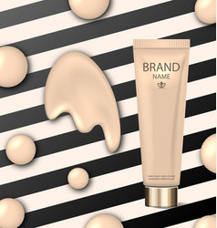 poster for cosmetic product tube with foundation vector image vector image