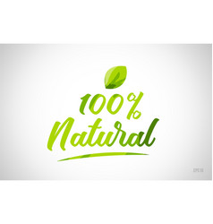 100 natural green leaf word text logo icon vector