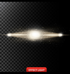 A two golden light rays vector