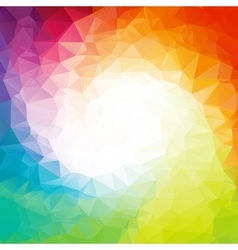 Abstract colorful swirl rainbow polygon around vector