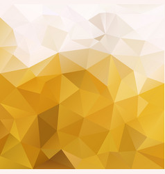 Abstract irregular polygon square background ochre vector