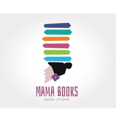 abstract mama books logo template vector image
