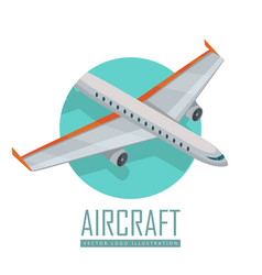airplane icon in isometric projection vector image