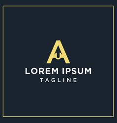 Au monogram logo vector