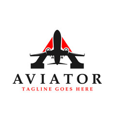 aviator logo with initial letter vector image