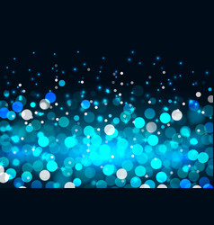 Blue bokeh lights on black background vector