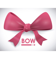 bow decoration vector image