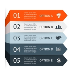 Business arrows infographic diagram graph vector image