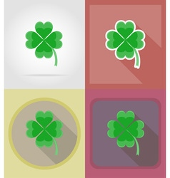 casino flat icons 10 vector image