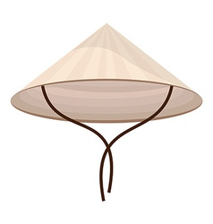 Chinese conical hat vector