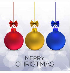 Chrismtas card with christmas balls vector