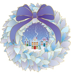 Christmas idyll vector
