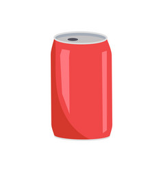 Coca cola red can closeup vector
