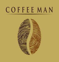 coffee man-fingerprint vector image