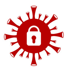 Coronavirus lockdown - icon vector
