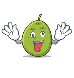 crazy olive mascot cartoon style vector image