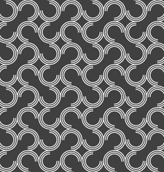 Dark gray ornament with offset c shapes vector