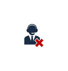 delete call center logo icon design vector image