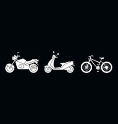 drawings motorcycle scooter bike vehicles vector image