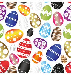 easter eggs color design with decoration pattern vector image