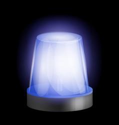 emergency siren icon realistic style vector image
