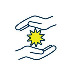 Energy healing technique rgb color icon vector