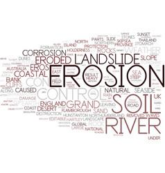 Erosion word cloud concept vector