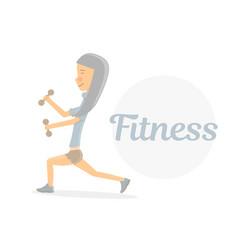 fitness girl logo vector image