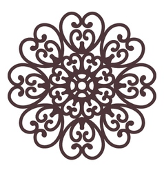 floral filigree on background vector image