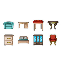 furniture and interior icons in set collection for vector image