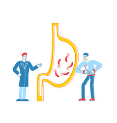 Gastroenterology health and healthcare concept vector