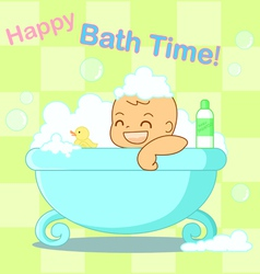 Happy bath time vector image