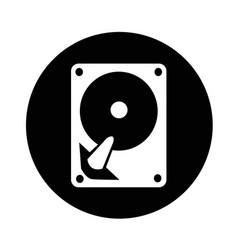 hard disc icon design vector image