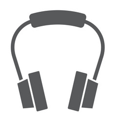 Headphones glyph icon earphone and music vector