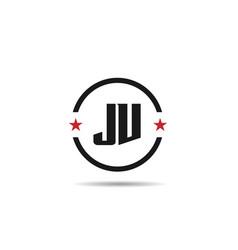 initial letter jv logo template design vector image