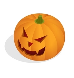 Isometric Halloween pumpkin head jack lantern vector image