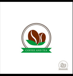 logo coffee beans coffee logo for a coffee shop vector image