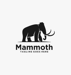 Logo elephant silhouette style vector