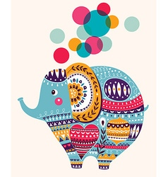 Lovely cute Elephant vector image