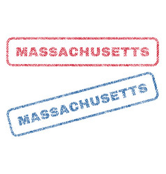 massachusetts textile stamps vector image