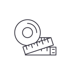 measurement of the figure line icon concept vector image