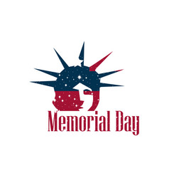 memorial day statue of liberty on a white vector image