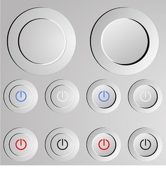 Metal switch button vector image