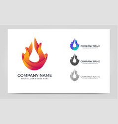 modern fire logo design vector image